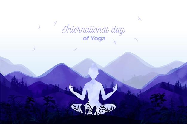 Międzynarodowy dzień jogi wydarzenia ilustracja