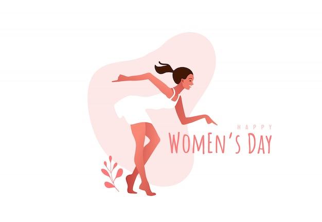 Międzynarodowy dzień kobiet. marsz. kobieta tańczy