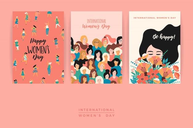 Międzynarodowy dzień kobiet. szablony wektorowe.