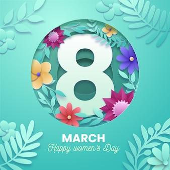 Międzynarodowy dzień kobiet w stylu papierowym