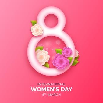 Międzynarodowy dzień kobiet w tle