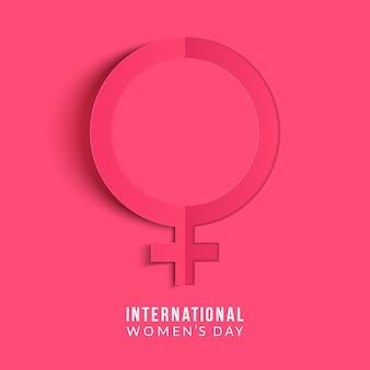 Międzynarodowy dzień kobiet . znak kobiety. szablon projektu origami.