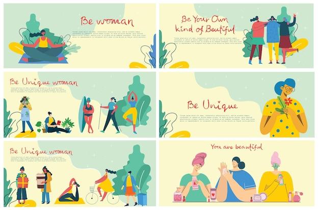 Międzynarodowy dzień kobiet. zróżnicowana międzynarodowa i międzyrasowa grupa kobiet. dla dziewczęcych pomysłów na siłę, kobiecość i feminizm.