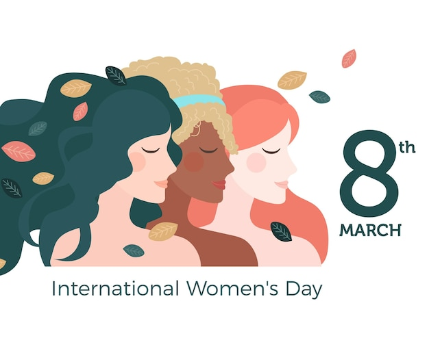Międzynarodowy Dzień Kobiet Darmowych Wektorów