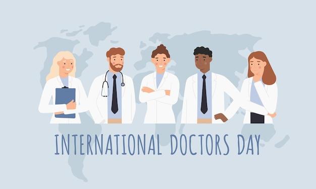 Międzynarodowy Dzień Lekarzy. Premium Wektorów