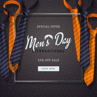 Międzynarodowy dzień mężczyzn lub kartkę z życzeniami z okazji dnia ojca