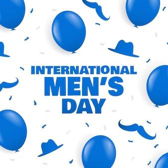Międzynarodowy dzień mężczyzn w tle