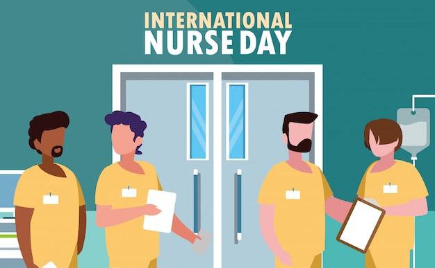 Międzynarodowy dzień pielęgniarki z grupą profesjonalistów