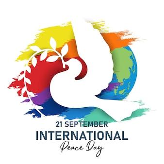 Międzynarodowy dzień pokoju. ilustracja koncepcja obecnego pokoju na świecie.