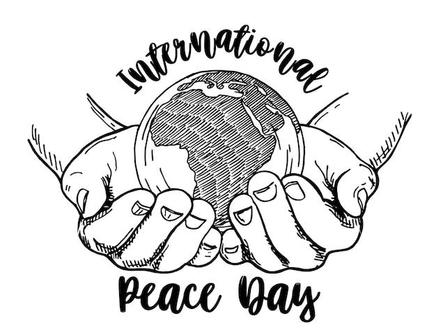 Międzynarodowy dzień pokoju - plakat szablon, baner