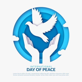 Międzynarodowy dzień pokoju w stylu papierowym