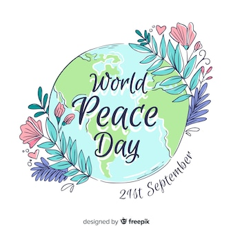 Międzynarodowy dzień pokoju w tle
