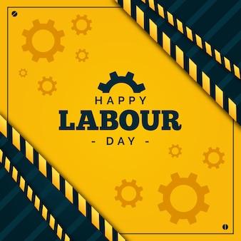 Międzynarodowy dzień pracowników płaska konstrukcja