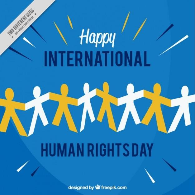 Międzynarodowy dzień praw człowieka w tle