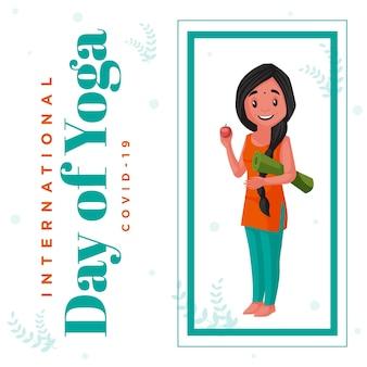 Międzynarodowy dzień projektowania szablonu transparentu jogi