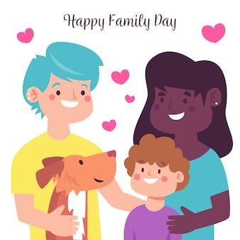 Międzynarodowy dzień rodziny płaski