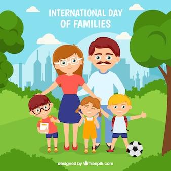 Międzynarodowy dzień rodziny tła