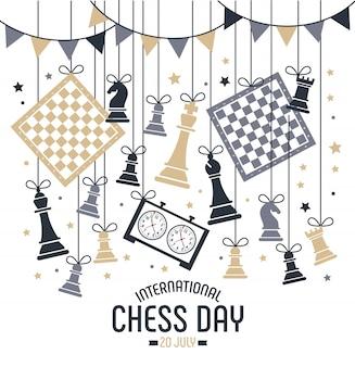 Międzynarodowy dzień szachowy obchodzony jest co roku 20 lipca