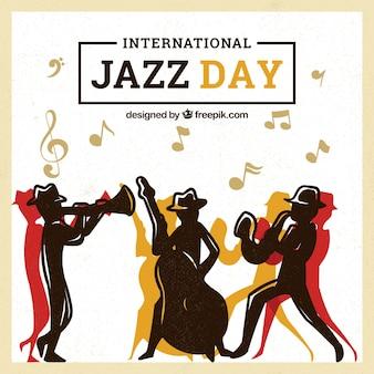 Międzynarodowy dzień tło jazz w płaska konstrukcja