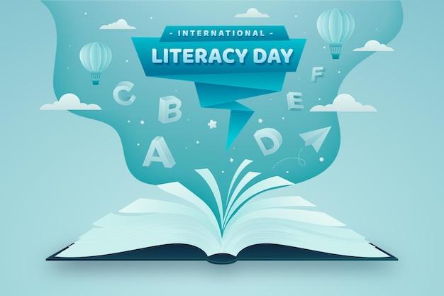 Międzynarodowy dzień umiejętności czytania i pisania w stylu papierowym