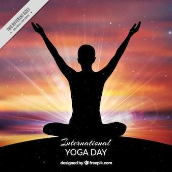 Międzynarodowy jogi dzień tła