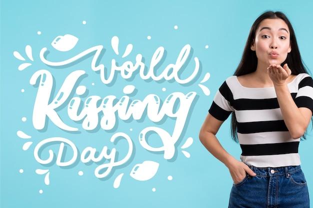 Międzynarodowy napis na dzień całowania