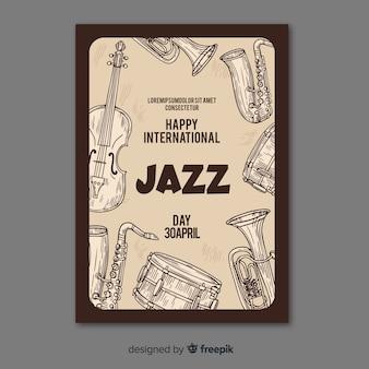 Międzynarodowy plakat dzień jazzowy szablon