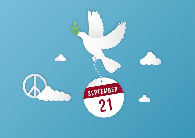 Międzynarodowy pokoju dnia tła szablonu wektor