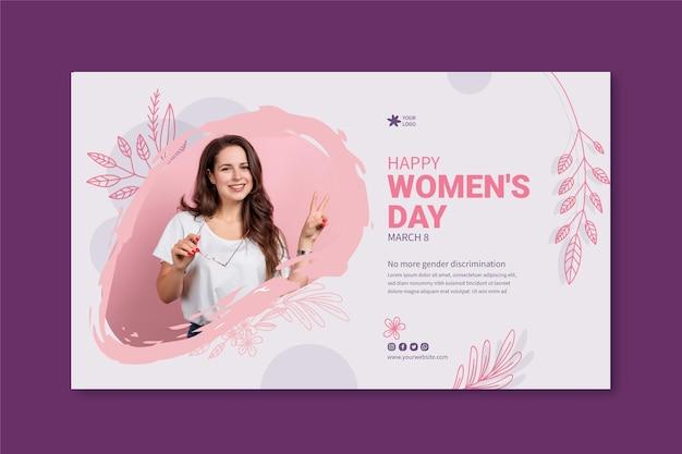 Międzynarodowy Sztandar Dnia Kobiet Darmowych Wektorów