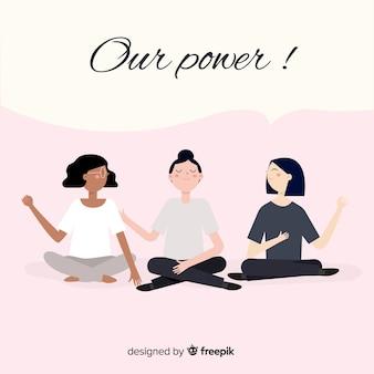 Międzyrasowa grupa kobiet