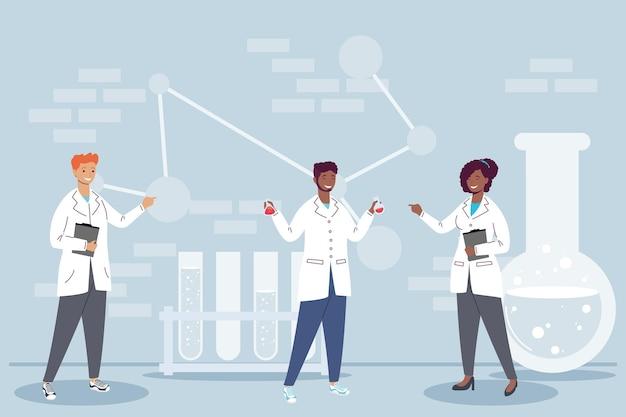 Międzyrasowe postacie pracowników laboratorium