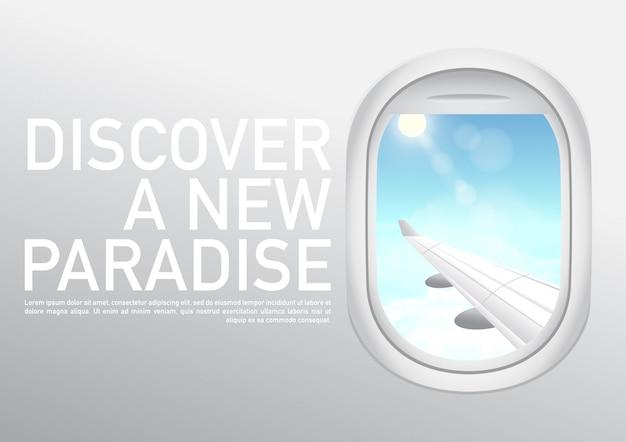 Miejsca na wakacje czas podróży. baner internetowy