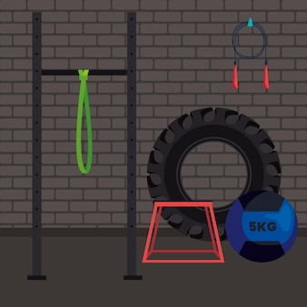 Miejsce na siłownię crossfit