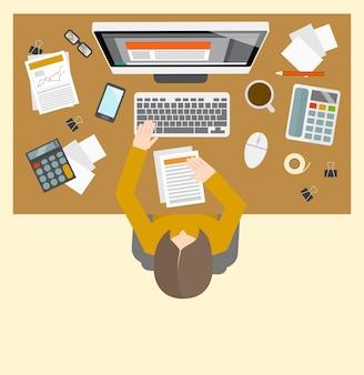 Miejsce pracy do zarządzania rozliczeniami