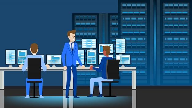 Miejsce pracy inżyniera centrum danych