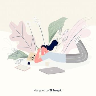 Miejsce pracy projektanta graficznego w kolorze pastelowym