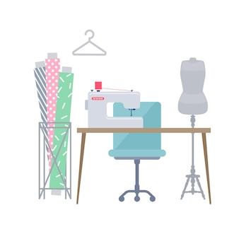 Miejsce pracy z odzieżą