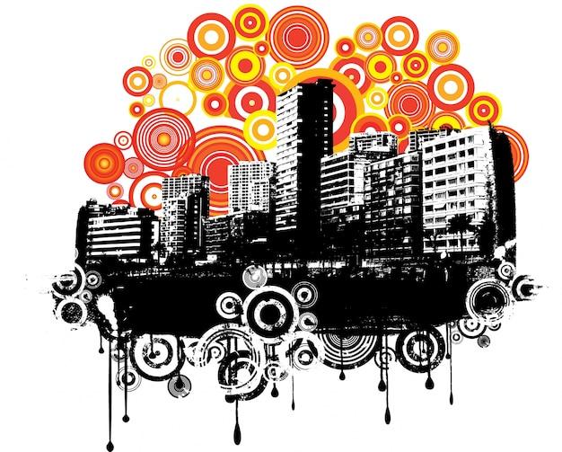 Miejski grunge tło