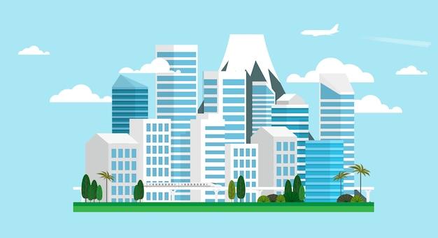 Miejski krajobraz wielkiego miasta