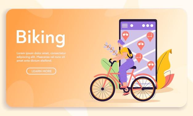 Miejski transport ekologiczny. publiczna wypożyczalnia rowerów. rower stoi na stacji, zabierając pojazd transportowy. nowoczesne środowisko miejskie i infrastruktura, koncepcja stylu życia