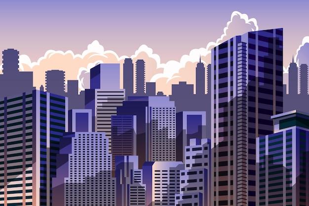 Miejskie tło miasta do wideokonferencji