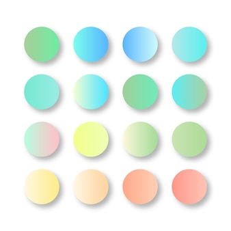 Miękka pastelowa paleta kolorów gradientu