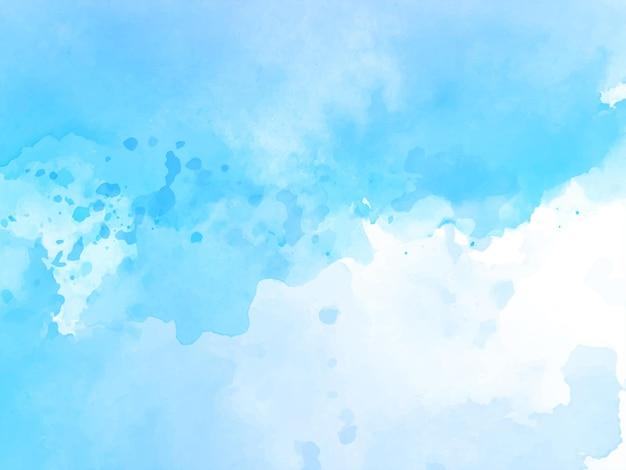 Miękki niebieski akwarela tekstury wzór tła wektor