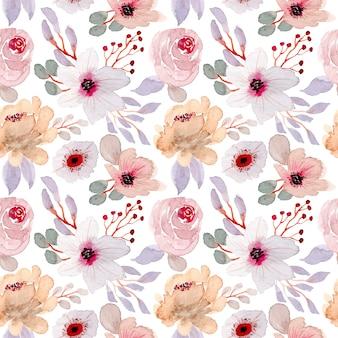 Miękki piękny akwarela kwiatowy wzór