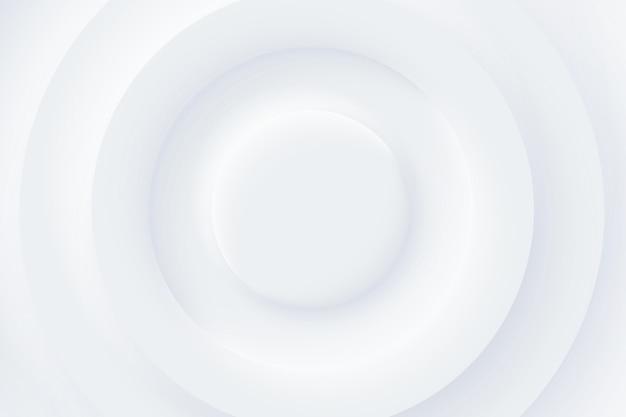 Miękki, przejrzysty i prosty futurystyczny kształt elementów. minimalistyczne białe tło. streszczenie koło tapeta biała warstwa papercut