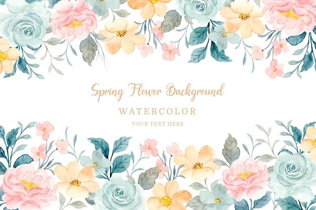 Miękki wiosenny kwiat akwarela