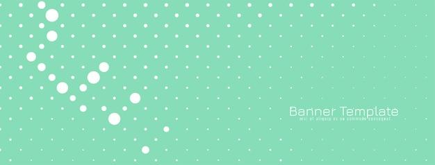 Miękki zielony nowoczesny baner półtonów