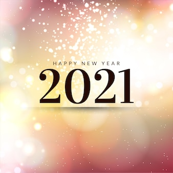 Miękkie kolorowe błyszczy kartkę z życzeniami szczęśliwego nowego roku 2021