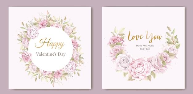 Miękkie różowe walentynki kartkę z życzeniami