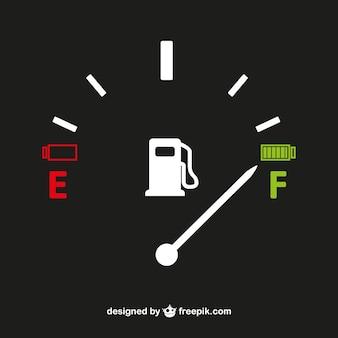 Miernik gazu wektor